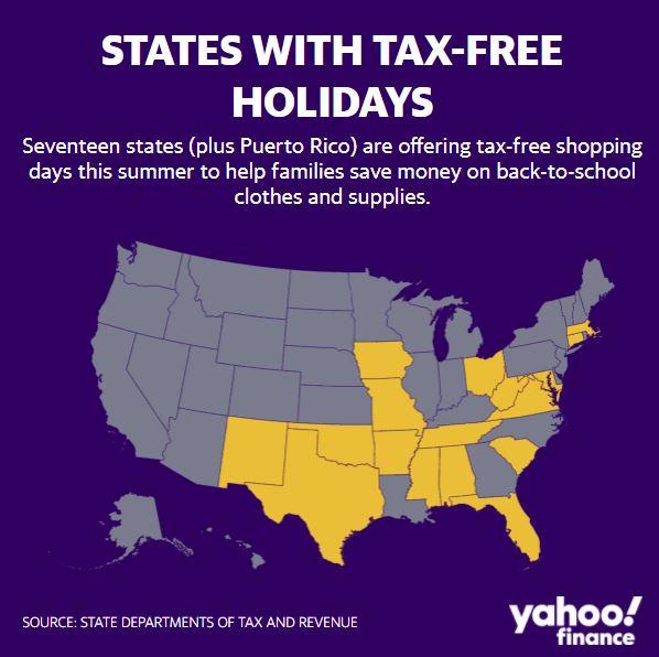 Tax Free Weekend Back To School